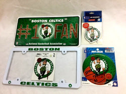 Boston Celtics Auto Car Truck License Plate Frame Air Fresher Sticker Lot Pack