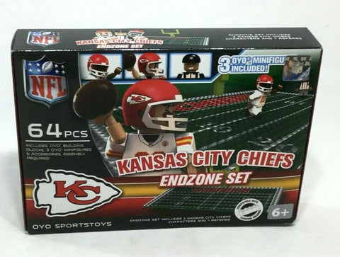 OYO Sports NFL Football End Zone Set 64 Pieces Figures Kansas City Chiefs Set