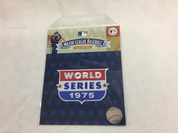 1975 World Series Logo Jersey Patch Cincinnati Reds Boston Red Sox FREESHIP