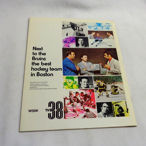 1970 1971 Boston Bruins Official Team Yearbook Orr Esposito Stanley Cup FREESHP