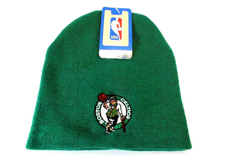 NBA Boston Celtics Winter Knit Cap Hat Beanie Cuffless Green Riders Type FREESHP