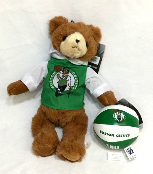 NBA Boston Celtics Teddy Bear Plush Fuzzy 12 Inch & Mini Basketball Lot FREESHIP
