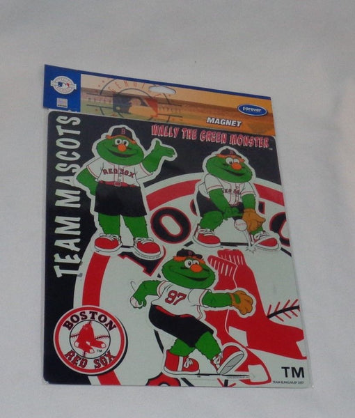 New Boston Red Sox Wally the Green Monster Mascot Flat Logo Magnet Set FREESHIP