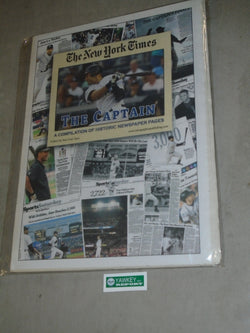 New York Times Collection Yankees Derek Jeter Highlights Newpaper Covers SEALED