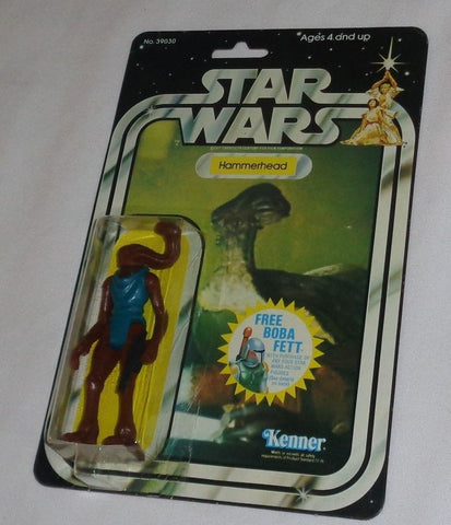1979 Vintage Star Wars Hammerhead Figure 20 Back Carded MOC Sealed Fett Logo