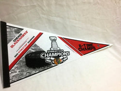 2015 Stanley Cup Champions Chicago Blackhawks Pennant 6x Time FREESHIP