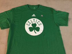New Official Adidas Boston Celtics Shamrock Green Logo T Shirt Mens Large