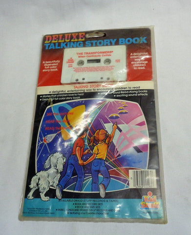 Kid Stuff 1984 Transformers When Continents Collide Book & Cassette Tape Sealed