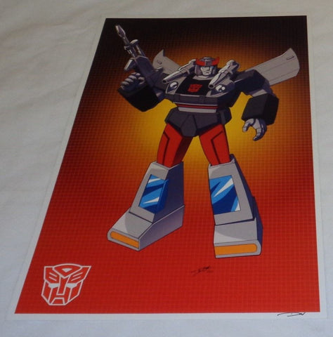 G1 Transformers Autobot Bluestreak / Silverstreak Poster 11x17 Box Art Grid