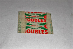 Vintage 1951 Topps Doubles Wax Pack Wrapper Baseball Red Back 1 Cent FREESHIPv