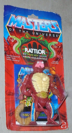 1985 Masters of the Universe MOTU Rattlor Figure MOC Sealed Carded FREESHIP