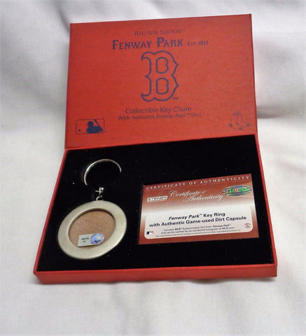 Boston Red Sox Fenway Park Infield Dirt Keychain Steiner Sports Official FREESP
