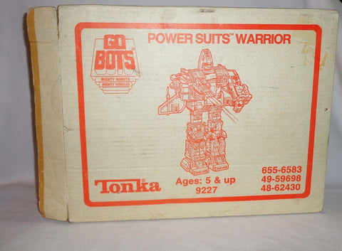 1985 Tonka GoBots Power Suit Renegade Grungy Warrior Set Sears Mail Away FREESHP