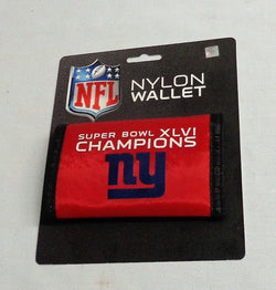 New York Giants SuperBowl 46 World Champions Nylon Tri Fold Wallet FREESHIP