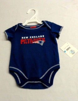 Official New England Patriots Baby Kids One-sie Shirt Size 3 to 6 Months Blue