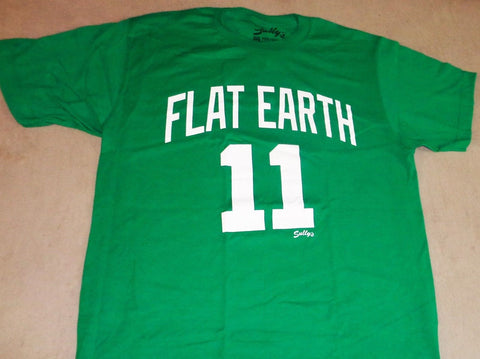 Boston Kyrie Irving Flat Earth #11 T Shirt Size XXLarge Celtics Garden FREESHIP