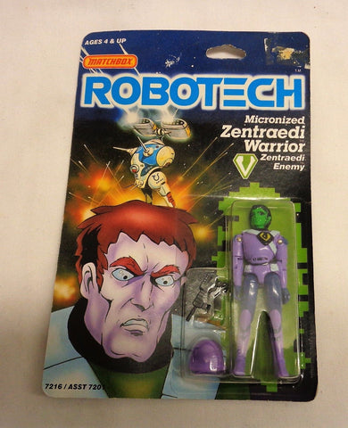 1985 Vintage Matchbox Robotech Micro Zentraedi Warrior Figure MOC Carded Sealed