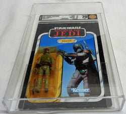 1983 Vintage Star Wars ROTJ Return of Jedi Boba Fett 77 Back AFA 70 Carded MOC