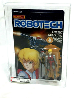 1986 Vintage Matchbox Robotech Dana Sterling Figure MOC Sealed AFA 85 Mint Grade