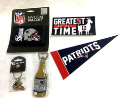 New England Patriots Fan Pack Bottle Opener Magnet Wallet Keychain Pennant Lot