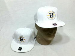 best service 666c3 84150 Reebok Boston Bruins ALL White Flatbrim Flex Fit Small   Medium Hat Cap  FREESHIP