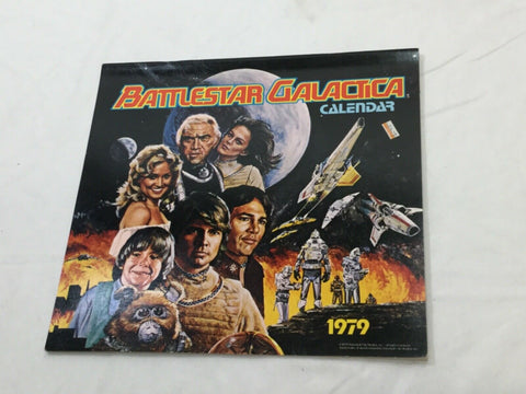 1979 Vintage Battlestar Galactica Calender with Poster Pictures Inside FREESHIP