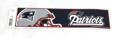 New England Patriots Helmet Logo Bumper Sticker Decal 10x3 Size Brady FREESHIP