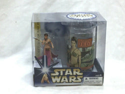 2004 Star Wars ROTJ Return of Jedi Princess Slave Leia Figure Cup Set Boxed NEW