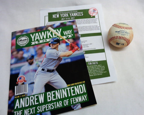 Yawkey Way Report Red Sox Program Aaron Judge Batting Plactice Home Run Baseball