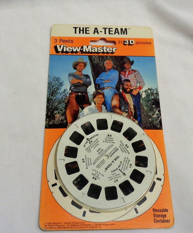 1983 Vintage View Master The A Team Pack 3D Reels MOC Sealed Carded Mr T Faceman
