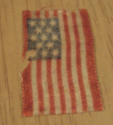 Antique US Flag RIBBON~'Grand Army of the Republic' Civil War Veterans Medal~