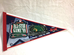 1999 MLB Baseball Allstar Game Pennant Boston Fenway Park FREESHIP Red Sox