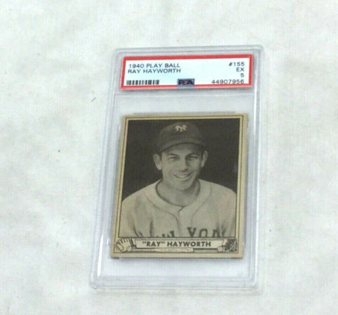 1940 Playball Baseball #155 Brooklyn Dodgers Ray Hayworth PSA 5 FREESHIP