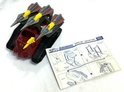 1988 Vintage GI Joe ARAH Cobra IMP Rocket Tank Complete Instructions FREESHIP