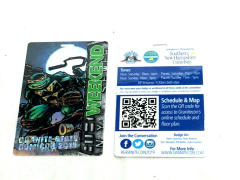 Granite State Comiccon Teenange Mutant Turtles TMNT Kevin Eastman Art Show Pass