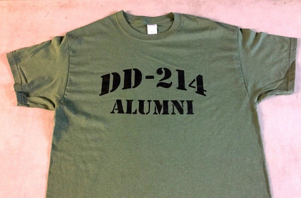 DD214 Alumni Veteran Honorable Discharge T Shirt Medium Army Marines Navy FREESP