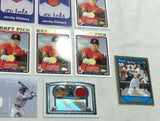 Red Sox Jacoby Ellsbury Rc Rookie Card Autograph Game Used Lot Topps Bowman