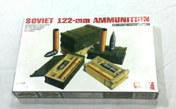 MiniArt Soviet 122mm Cannon Ammunition Model Kit Plastic Marines 1:35 Scale