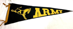 Vintage 1950s US Army West Point University Pennant 11x29 Vintage Black Knights
