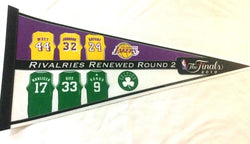 2010 NBA Finals Pennant Boston Celtics Los Angeles Lakers Rivelry Jersey Bird
