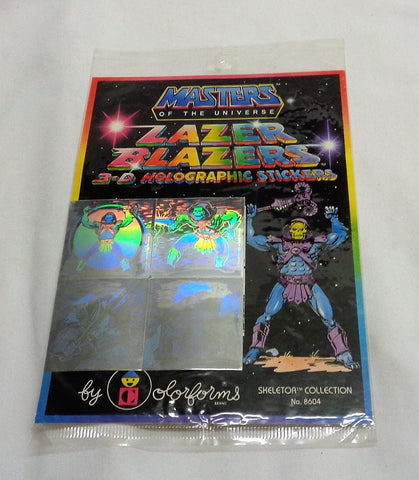 1981 Masters of the Universe MOTU Lazer Blazers 3-D Holographic Sticker Skeletor