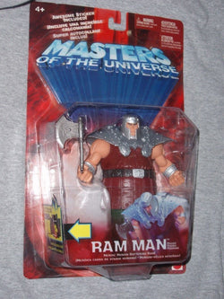 Mattel 2001 Masters of the Universe MOTU Ram Man Figure MOC Sealed FREESHIP