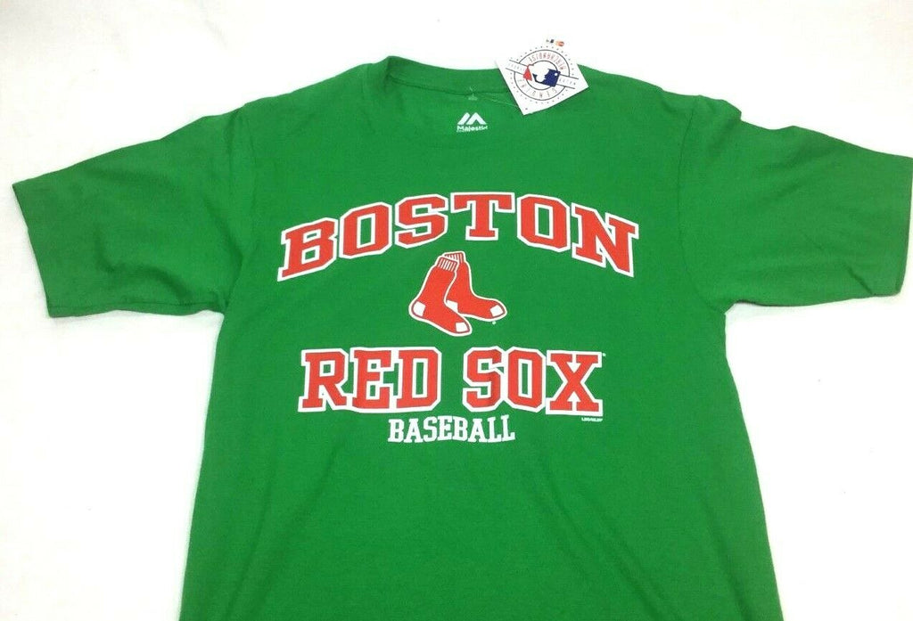 newest 9f97d 5c67b NEW Official MLB Majestic Boston Red Sox Basic Green T Shirt Mens Medium  FREESHP