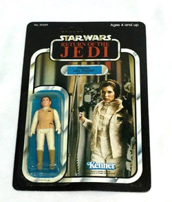 1983 Star Wars ROTJ Return of Jedi Princess Leia Hoth Carded Sealed MOC 77 Back