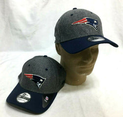 New England Patriots Hat Cap New Era 3930 Sideline Series Grey Medium Large