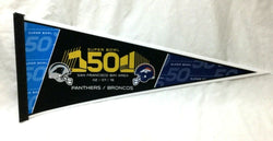 2015 Superbowl 50 Duel Pennant Denver Broncos Carolina Panthers (2A) FREESHIP