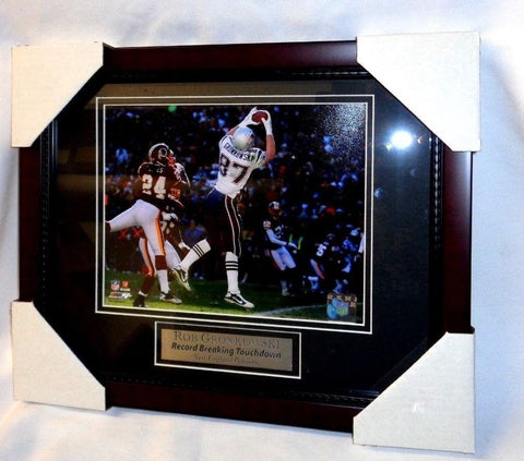 New England Patriots Rob Gronkowski Gronk TD Pass Brady Framed Picture 13x16