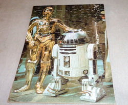 1977 Vintage Kenner Star Wars Jigsaw Puzzle Complete Mounted R2D2 C3PO Droids
