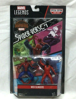 2015 Marvel Legends SpiderMan Scarlet Web Slingers Figure 2 Pack Comic Book Set