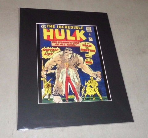 1962 Marvel Comics The Incredible Hulk #1 Stan Lee Poster Picture 16x20